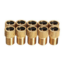 10Pcs/lot Air Pump Bicycle Bike Valve Type Adaptor Tire Tyre Inflator Converter Adapter Golden Color High Quality