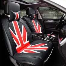 Leather Universal Car Seat Covers England Union Jack Style Cover Whole Surrounded