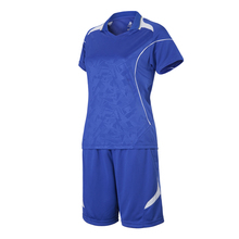 2016 New Polyester Women Soccer Short-Sleeve Jersey Suit Blank Volleyball Training Sets Sports Survetement Football Tracksuit XL