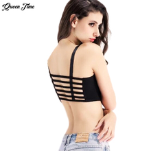 Hot Sale 2017 Fashion Sexy Women Cotton Hollow Back Shirt Tank Top Padded Bra Wrap Vest