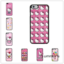 back shell skins cellphone case cover for iphone 4 4s 5 5s 5c SE 6 6s 7 plus ipod touch 4 5 6 Hello Kitty Pink Custom New