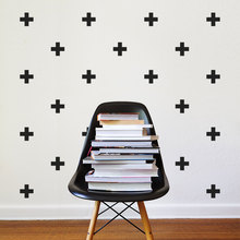 Cool Plus Symbol Art Designed Wall Decals Home Nursery Bedroom Cute Decor Set Patterned Series Vinyl Special Wall Stickers W-340