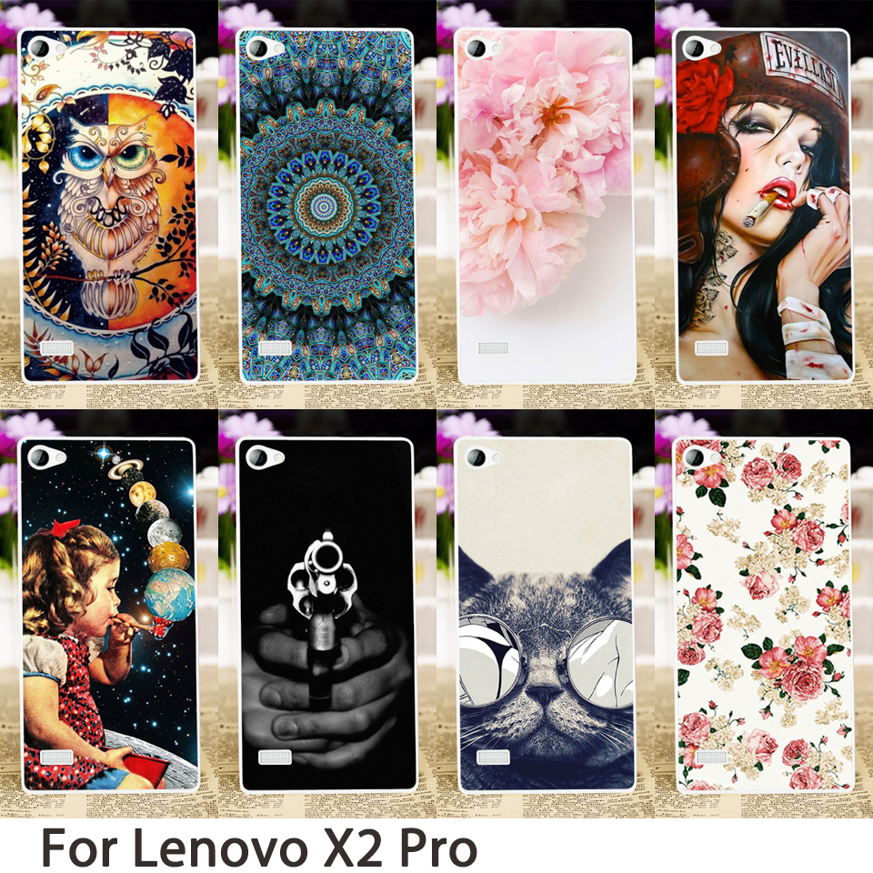 TAOYUNXI Smartphone Cases Lenovo Vibe X2 Pro Case 5.3 inch Cool Flowers Animals Gun Hard Back Cover Skin Hood Bags