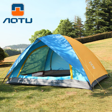 2 person 4 season Double layer camping tent 210D oxford water resistant outdoor folding camping tent for camping 200*150*120CM