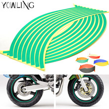 "16 Strips Bike Car Motorcycle Wheel Tire Rim Stickers And Decals Decoration Stickers 14"" 17"" 18"" 4 Color Car Styling Accessories(China)"