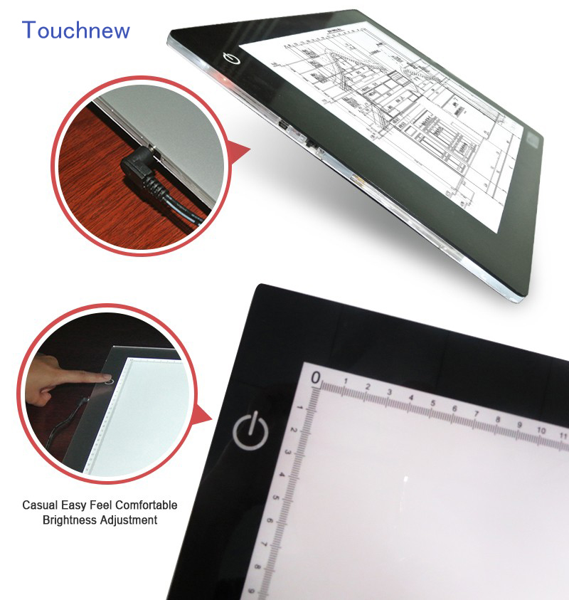 Tracing Light Box,A4 Size 8mm Ultra-thin USB Power LED Artcraft Light Pad for Artists,Drawing,Sketching,Animation<br>