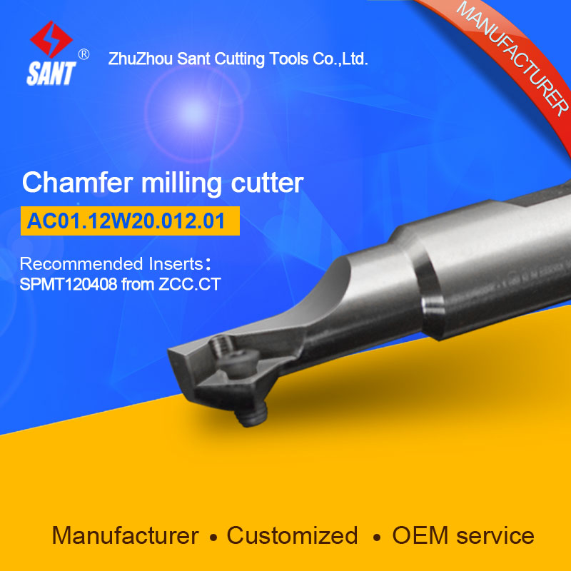 Refer to CMA01-012-XP20-SP12-01,AC01.12W20.012.01 Chamfer Milling Tools for Inserts SPMT120408<br>