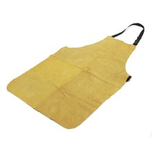 NEW Welders Dual Leather Welding Cutting Bib Shop Apron Heat Resistant Workplace Safety Safety Clothing Self Protect(China)
