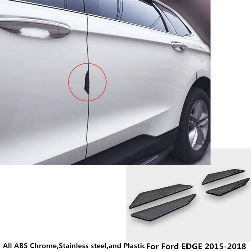 High Ford EDGE 2015 2016 2017 2018 car Styling body side stick Accessories carbon fibre door protection strip 4pcs