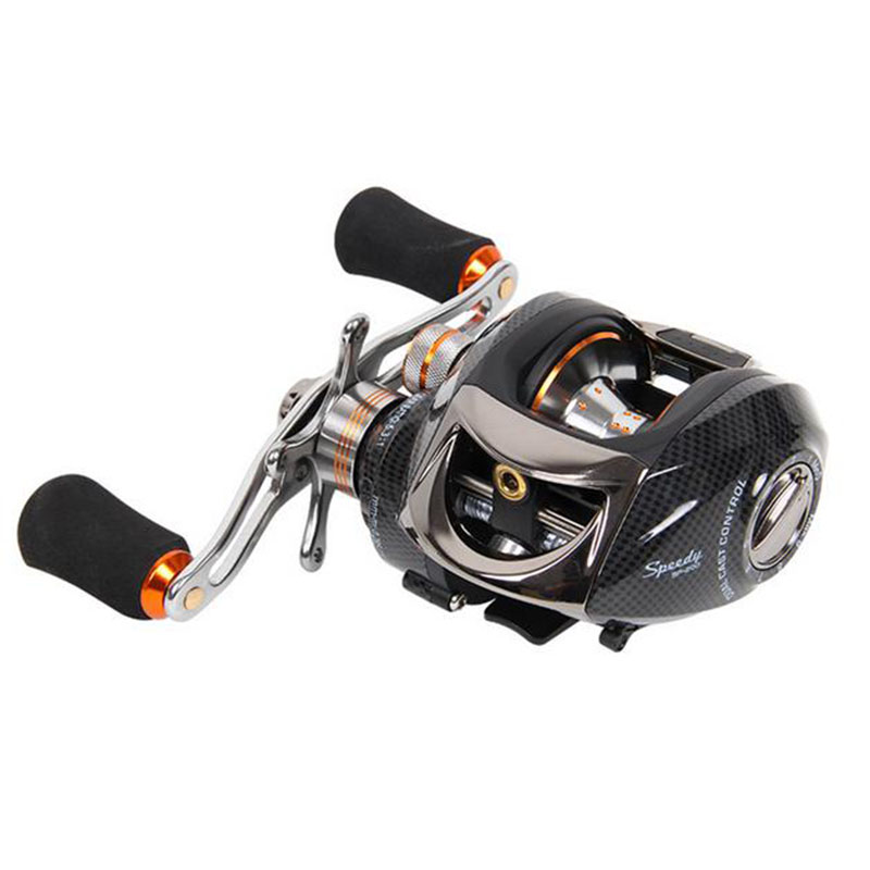Free shipping TSURINOYA Speedy Bait Casting Reel 14BB Magnetic+Control Dual Brake System 6.3:1 R/LHand Baitcasting Fishing Reel<br>