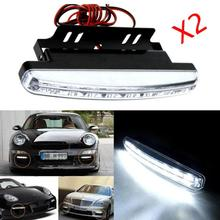 2017 HOT SALE car styling 2pc 8LED Daytime Driving Running Light DRL Car Fog Lamp Waterproof White DC 12V