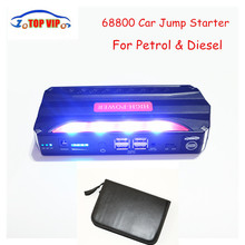 12V Petrol Diesel Multi-Function Car Jump Starter Mini 4USB Power Bank Safety Hammer SOS Lights Car Charger