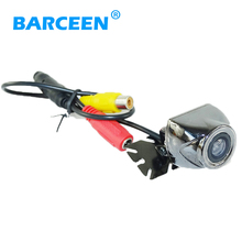 Silvery metal shell car rear reversing camera supply from factory night vision wire suitable into various cars(China)