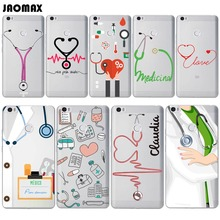 Unique Design Stethoscope Doctor Medical Phone Case For Xiaomi mi 5 mi 4c Note Note 2 Max Transparent Soft Silicone Phone Cover(China)