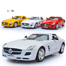 4 Color 1:36 Classic Metal Cars Light Music Diecast Sports Pocket Die Cast Model Alloy Car Pull Back Gifts Kid Toys For Children(China)
