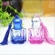Free Shipping 5ml Empty Glass Refillable Perfume Roll On Bottles New Style Top Grade Originales Parfume Essential Oil Containers