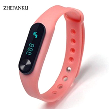 Original M2 Smart Wrist Band Heart Rate Blood Pressure Oxygen Oximeter Sport Bracelet Watch Intelligent For IOS Android(China)