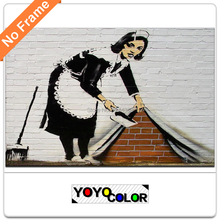 Banksy The Sweeper, HD Canvas Print Painting Artwork, Unique Wall Art Picture Gift for Living Room, WHOLESALE B702