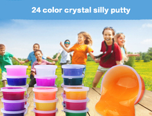 24Colors Crystal Modeling Clay Sets Silly Putty Plasticine Not Glue The Hand DIY Toys for Kits Creative Plaything