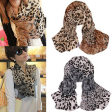 Sprint autumn fashion women scarf  leopard print scarves lady wraps chiffon silk scarf women shawl