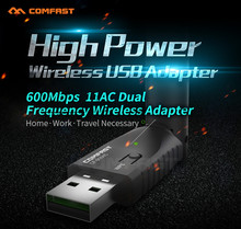 Good Sale Portable 600Mbps Dual Frequency USB 2.0 High Power Wireless Adapter Apr 25