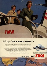 Vintage Fly TWA World Travel Women Travel Advertisement Retro Poster Decorative DIY Wall Paper Posters Home Decor Gift(China)
