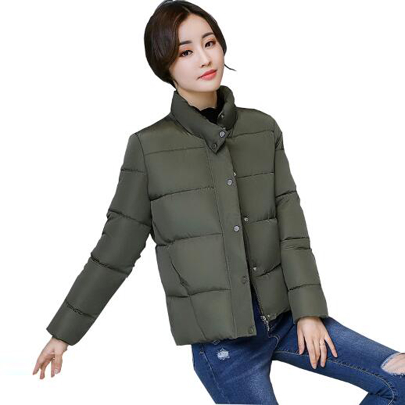 Padded Girls Outwear 2017 Winter Women Parkas New Fashion Zipper Short Coat Thickened Warm Jackets Female Cotton Coats PW1040 Îäåæäà è àêñåññóàðû<br><br>