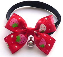 Boutique Dog cat bow tie pet collars with bell supplies adjustable Teddy dog neckties colorful best gift