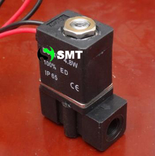 Free shipping, normal close 3P025-06-220VAC plastic solenoid valve-5~80`C 0~0.8MPa 3 way 2 position Solenoid valve for water