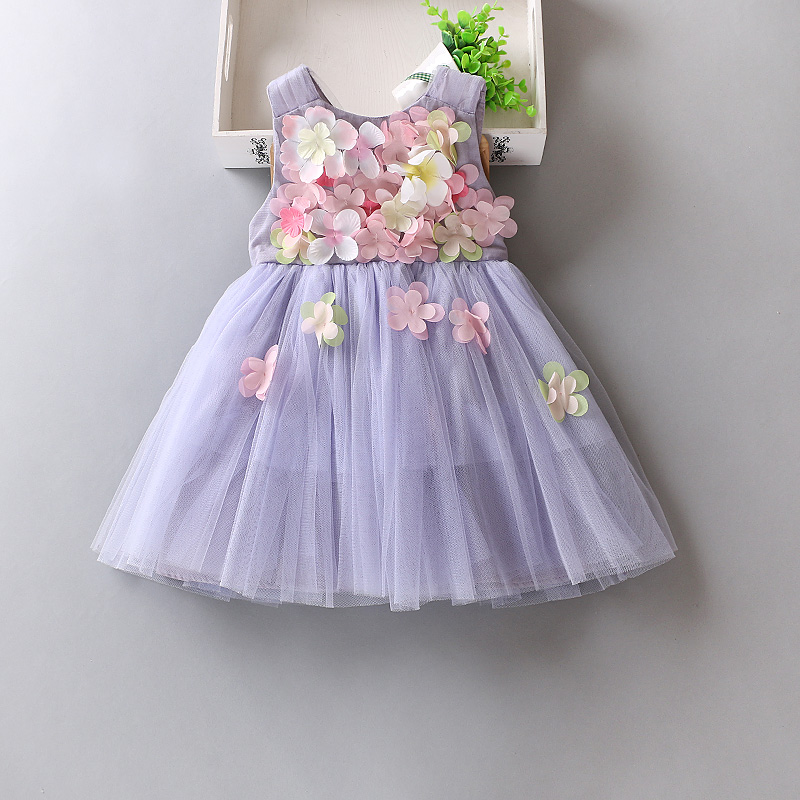 New 2017 tulle gray baby bridesmaid flower girl wedding dress fluffy ball gown USA birthday evening prom cloth tutu party dress<br>