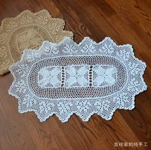 Free shipping cotton crochet lace felt doilies cup coaster for coffee table lace crochet placemat decoration cotton props(China)