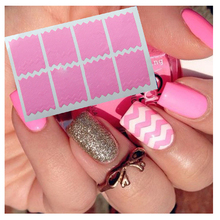DIY Multiple Use French Nail Tapes False Tips Nail Art Decorations Vinyl Guides Strip Nail Decals Sticker Stencil B0800(China)
