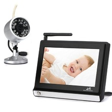 7inch baba electronics com camera baby monitor 2.4GHz IR Night vision 4CH Remote control 380TV line CMOS camera radio babysitter