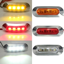 Vehicle 12-24V 6 LED Car Bus Truck Trailer Lorry Side Marker Lights Turn lights Indicator Light Side Lamp Yellow Red White