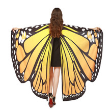 Fashion scarf Women shawls and scarves Butterfly Wings Shawl Scarves Ladies Pixie Poncho Costume Accessory ponchos and capes(China)