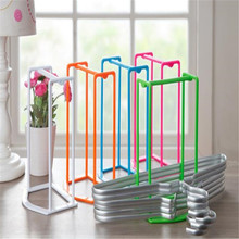 Happy Sale  Plastic Hangers Creative Finishing Frame Hanger Companion Storage Rack nov23