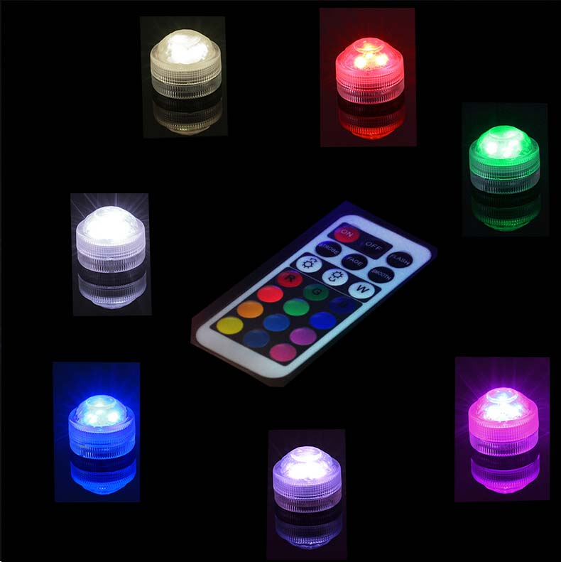20PCS /Lot Free Ship Wedding Decoration Submersible LED Party Tea Table Mini Light With Battery For Marriage Halloween Christmas(China (Mainland))