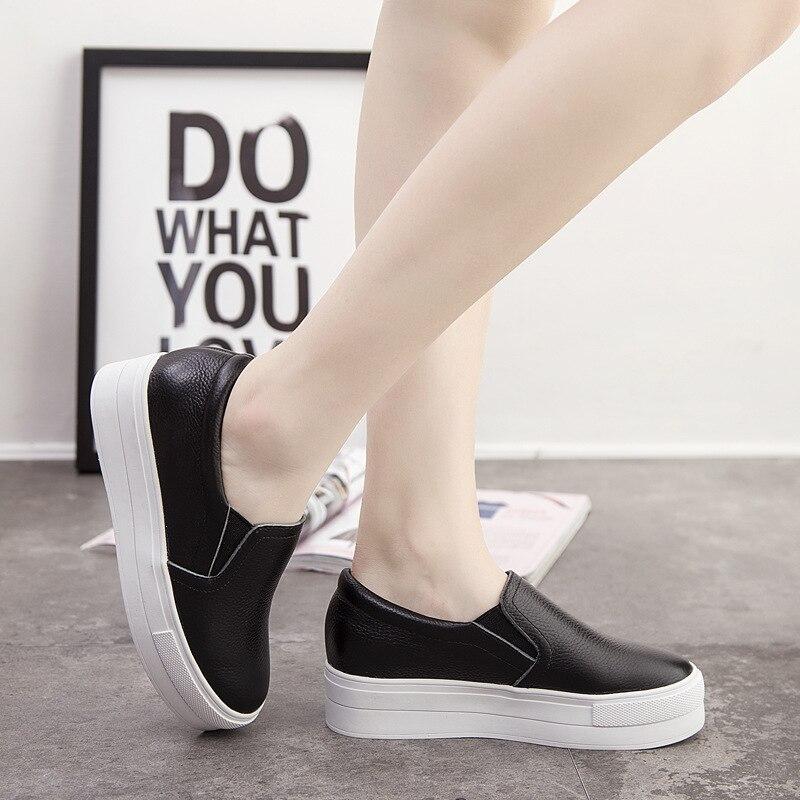 2016 Autumn Korean style Women leather platform shoes  casual shoes<br>