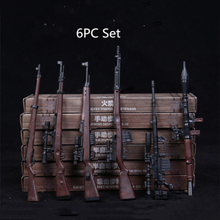 6pcs/Set 1/6 Soldier Automatic Rifle Sniping Weapon Gun Models 4D RPG M14 for 12 Inches Action Figures Dolls(China)