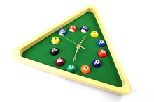 Creative Snooker Balls clock billiard ball club room decorated watches(China)
