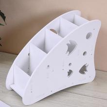 90mm*250mm*195mm Environmentally Space-Saving Durable White Wood-Plastic Plate Multi-Function Remote Control Storage Box(China)