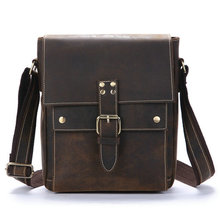 Genuine Leather Men Bags Fashion Male Messenger Bags Men's Small Briefcase Man Casual Crossbody Shoulder Handbag