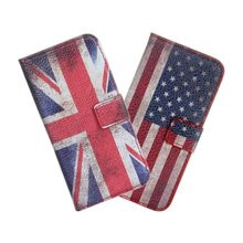For iPhone SE 5 5S Cover Case Retro UK USA Flag Wallet Leather Purse Mobile Phone Bag Etui Coque Funda For iPhone SE 5 S Capinha(China)