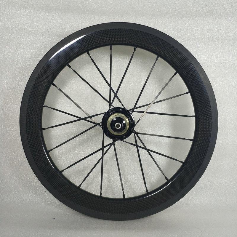 SEMA 16inch349 carbon wheelset with husmith 3K glossy (12)_