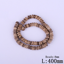 Hot 8mm Light Coffee Coconut Shell Hole Beads Wholesale Fashion Natural Dark Brown Wheel Bead Beaded For Kids DIY Jewelry Making