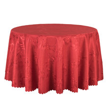 10PCS Red Gold White Jacquard Table Cover Round Decor Dining Table Cloth Rectangular Hotel Outdoor Wedding Table Linen Wholesale(China)
