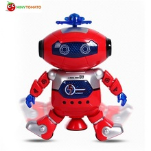 2color Intelligent robot dancing remote control toy dance robot toy model electric musical action figure for Child birthday gift(China)