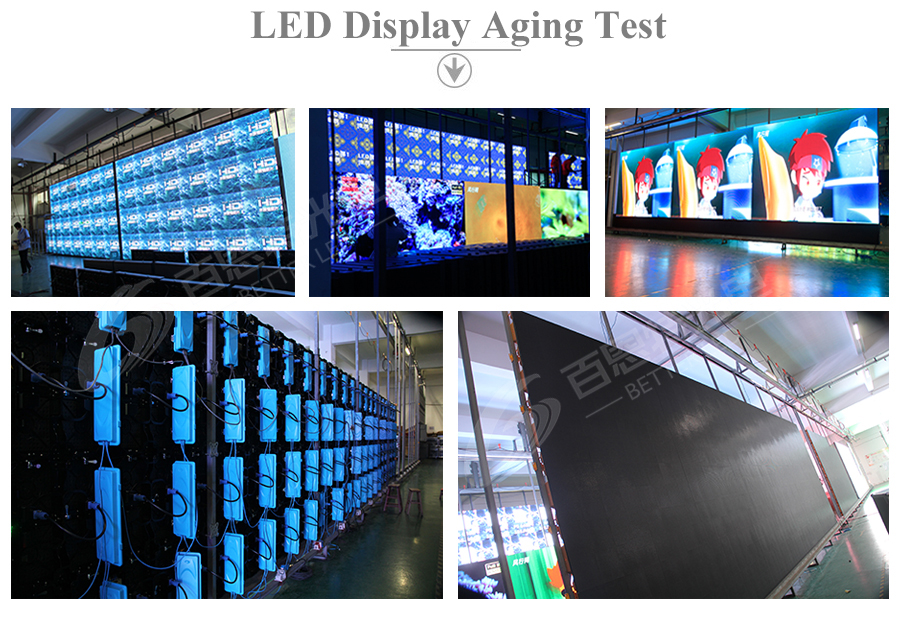 LED display aging Test 1