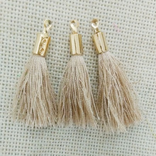 jewelry making kc gold cord crimp ends caps fiber Tassel earrings charms tassels necklace pendant  findings rope fringe bijoux
