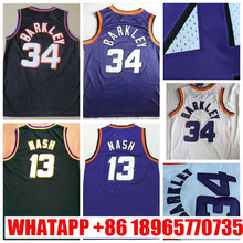 Mens #13 Retro Steve Nash Jersey Stitched Wholesale Cheap High Quality #34 Charles Barkley Jersey Throwback Basketball Jersey